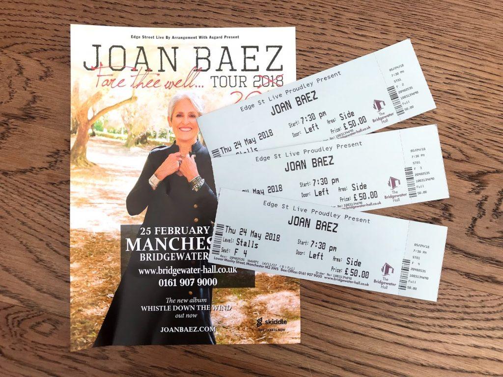 Joan Baez Manchester 2018